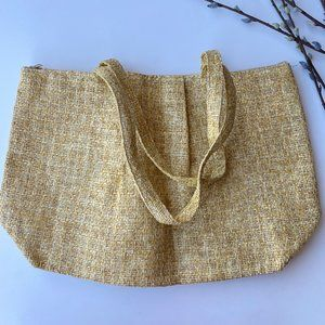 Bijoux Terner Straw Woven Extra Large Double Strap